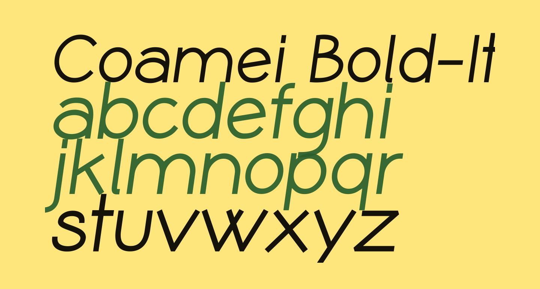 Coamei Bold-Italic
