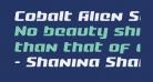 Cobalt Alien Semi-Italic