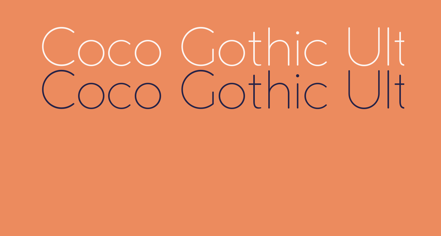 Coco Gothic UltraLight