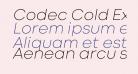 Codec Cold ExtraLight Italic