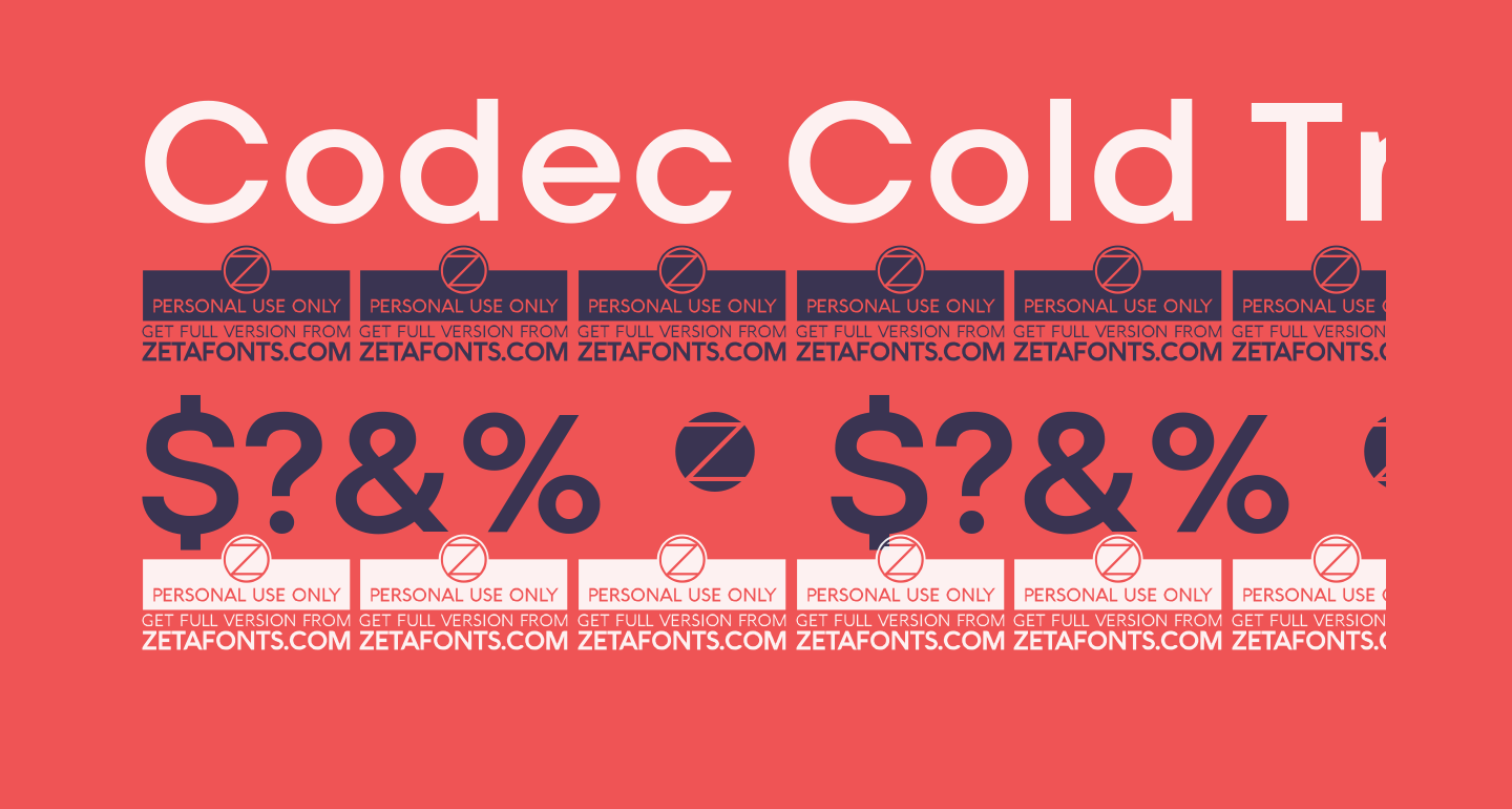 Codec Cold Trial Bold