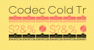 Codec Cold Trial ExtraLight