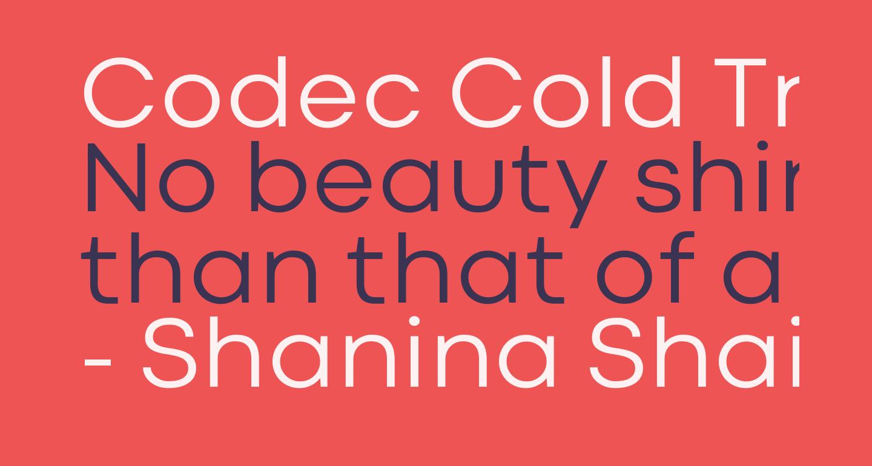 Codec Cold Trial News