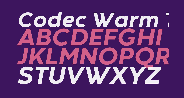 Codec Warm Trial ExtraBold Italic