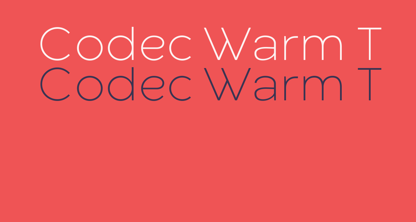 Codec Warm Trial ExtraLight
