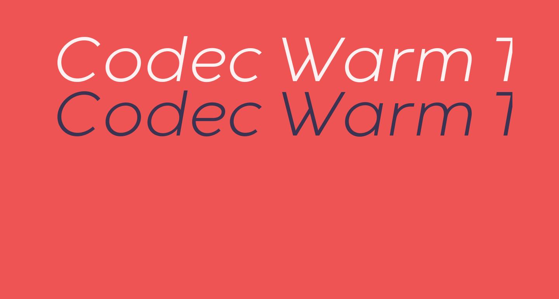 Codec Warm Trial Light Italic