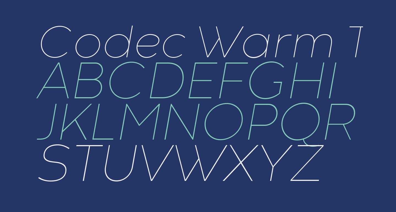 Codec Warm Trial Thin Italic