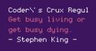 Coder's Crux Regular