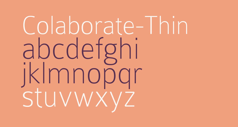 Colaborate-Thin