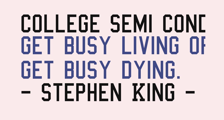 College Semi condensed