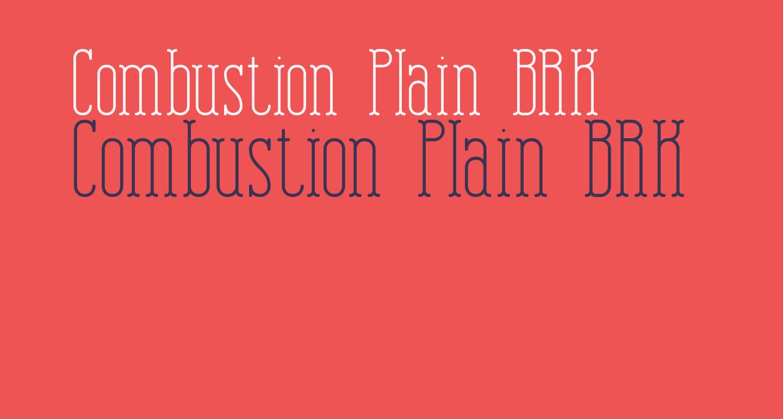 Combustion Plain BRK