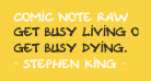 Comic Note Raw