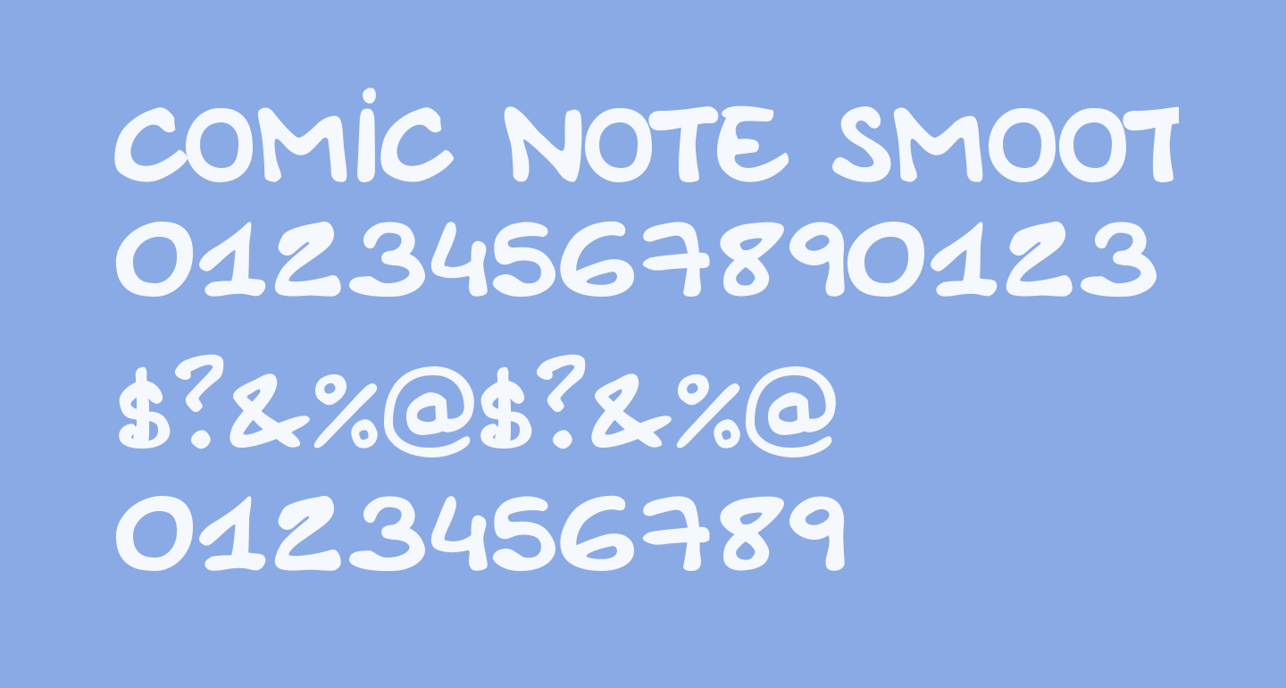 Comic Note Smooth