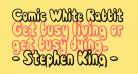 Comic White Rabbit