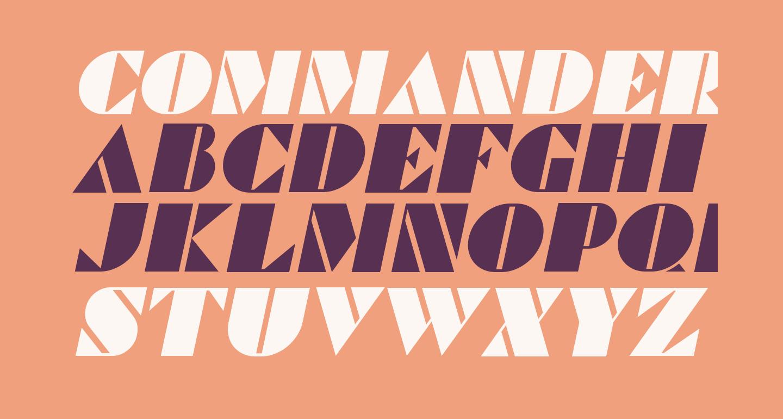 Commanders Italic