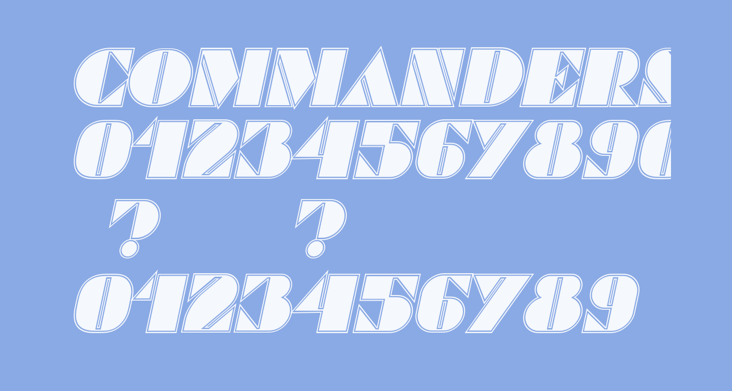 Commanders Outlined Italic