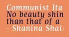 Communist Italic