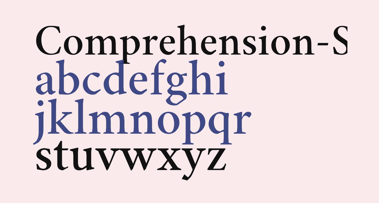 Comprehension-SemiBold