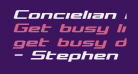 Concielian Bold Semi-Italic