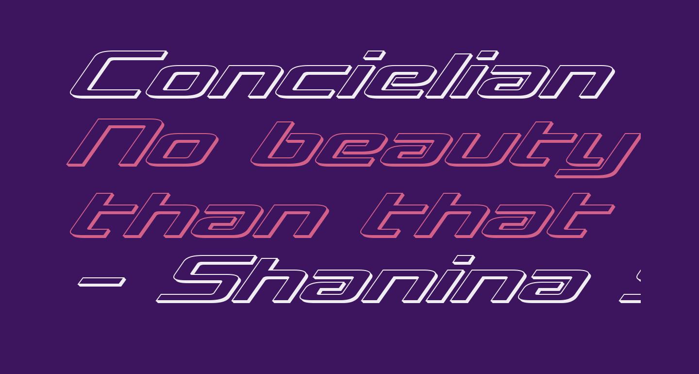 Concielian Break 3D Italic