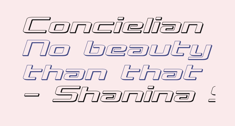 Concielian Break 3D Semi-Italic