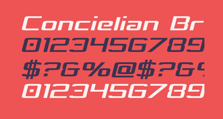 Concielian Break Condensed Semi-Italic