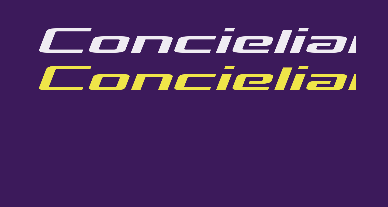 Concielian Break Expanded Semi-Italic