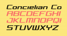 Concielian Condensed Semi-Italic