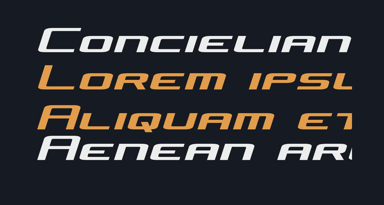 Concielian Jet Semi-Italic