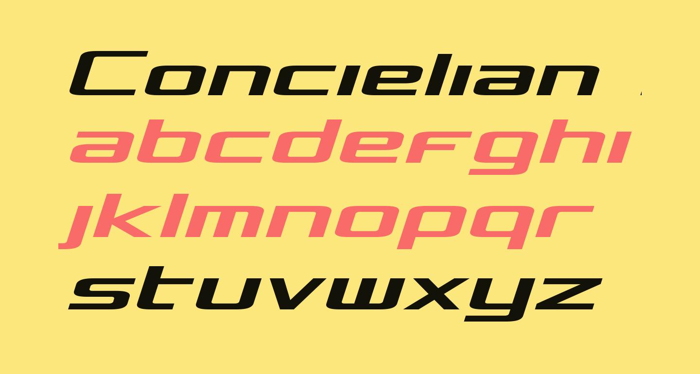 Concielian Semi-Italic