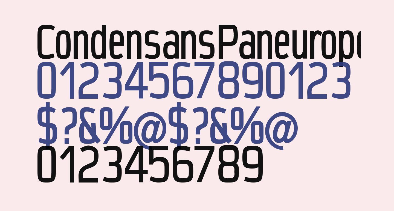 CondensansPaneurope-Medium