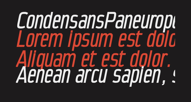 CondensansPaneurope-MediumOblique
