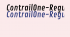 ContrailOne-Regular