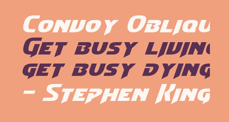 Convoy Oblique