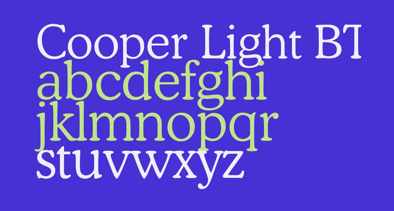 Cooper Light BT