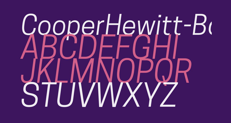 CooperHewitt-BookItalic