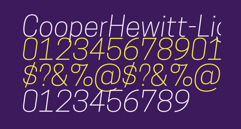 CooperHewitt-LightItalic