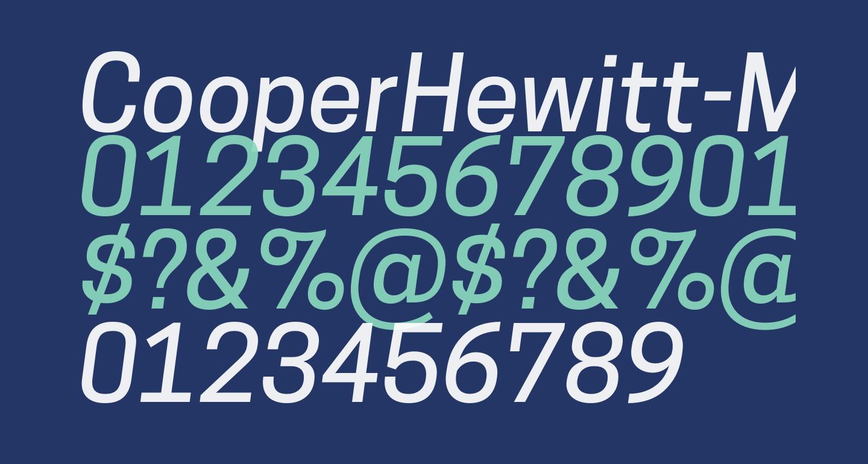 CooperHewitt-MediumItalic