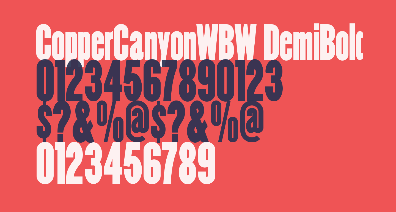 CopperCanyonWBW DemiBold