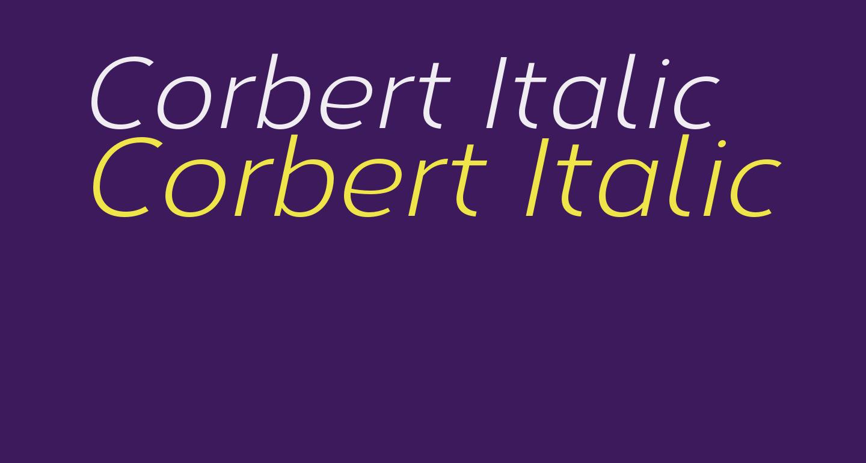 Corbert Italic