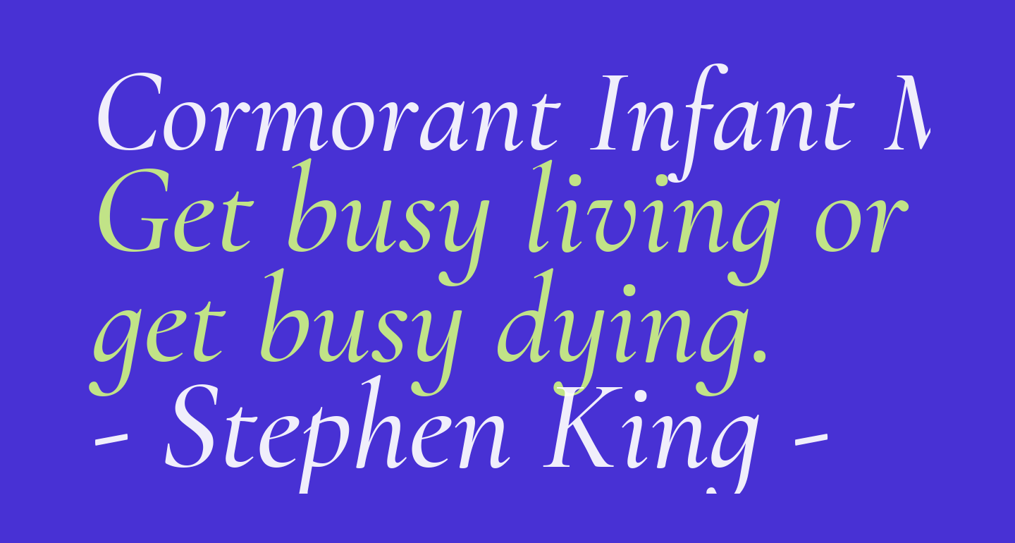 Cormorant Infant Medium Italic