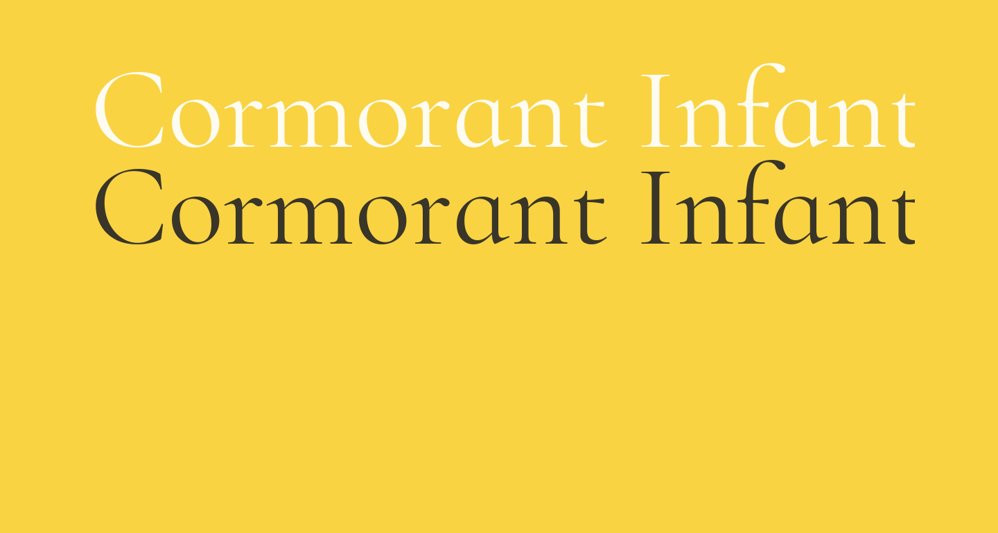 Cormorant Infant Regular