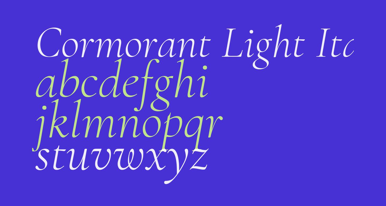 Cormorant Light Italic