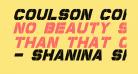 Coulson Condensed Italic