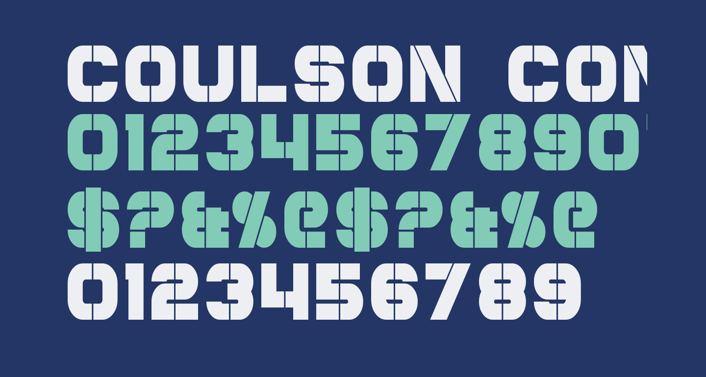 Coulson Condensed