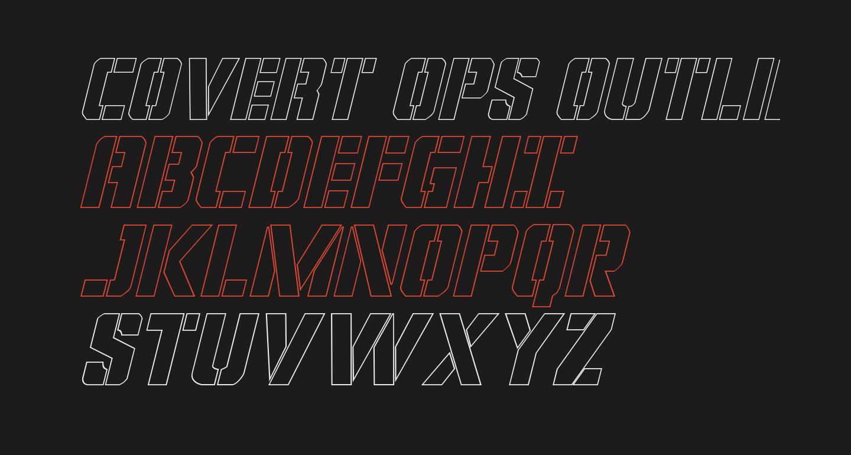 Covert Ops Outline Italic