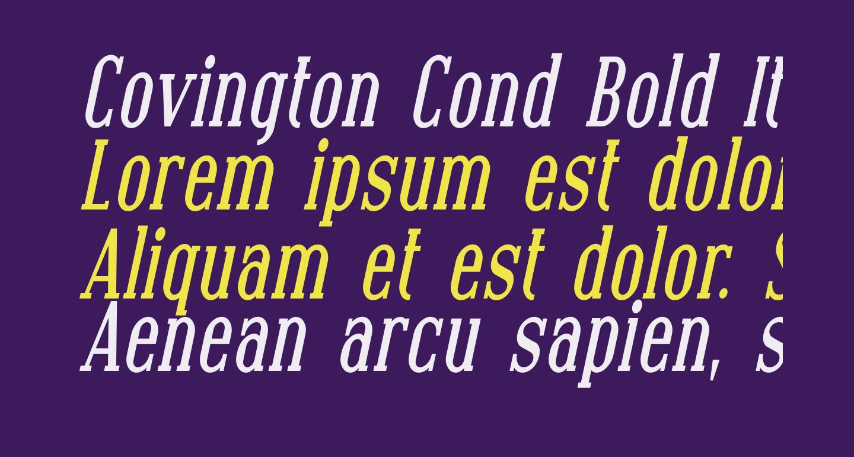 Covington Cond Bold Italic