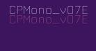 CPMono_v07ExtraLight
