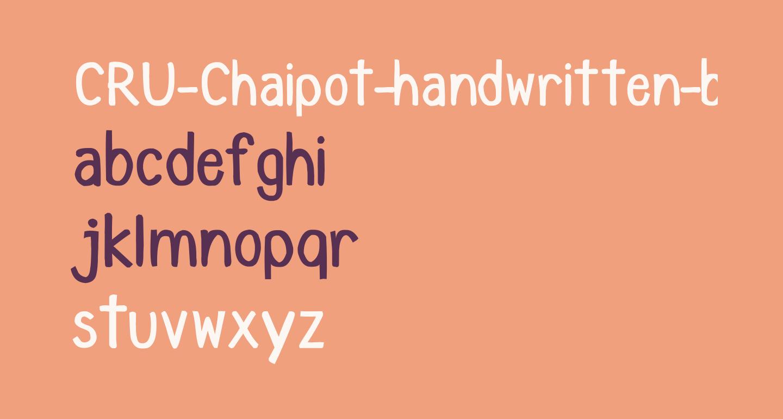 CRU-Chaipot-handwritten-blod