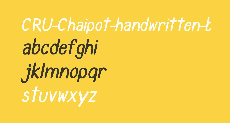 CRU-Chaipot-handwritten-blod-ltalic
